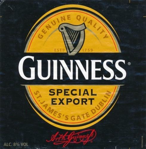 cerveza guinness export x 330ml -monte castro