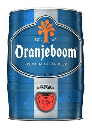 cerveza holandesa oranjeboom barril 5 litros - floresta