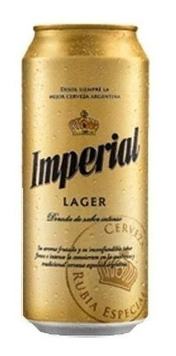 cerveza imperial lata 473 ml rubia lager - pack 24 unidades