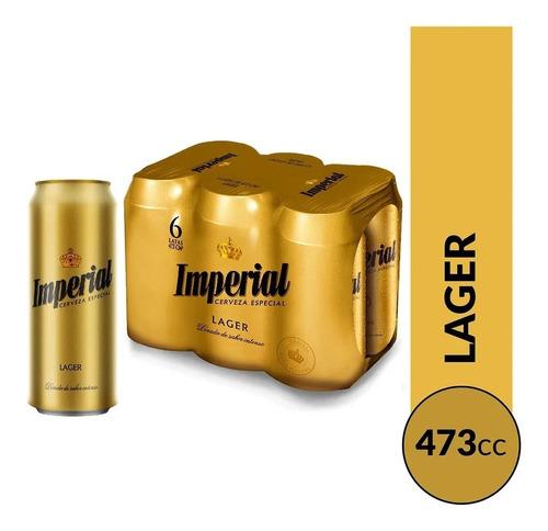 cerveza imperial rubia 473cc