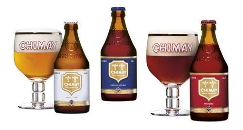 cerveza importada de belgica chimay estuche edición especial
