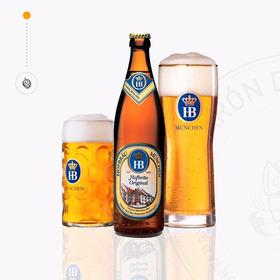 Cerveza Importada Hofbräu Original X 500ml - Alemania