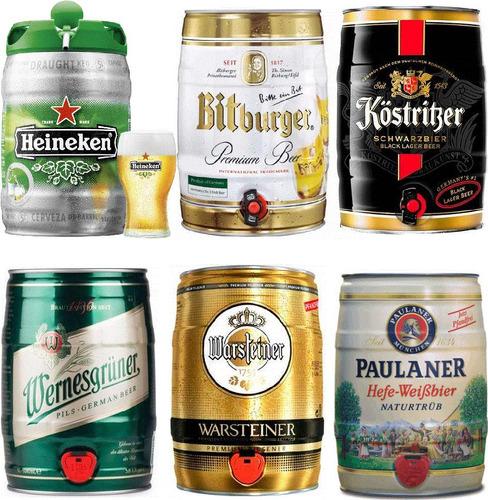 cerveza importada kaiserdom 1 litro - varias marcas barriles