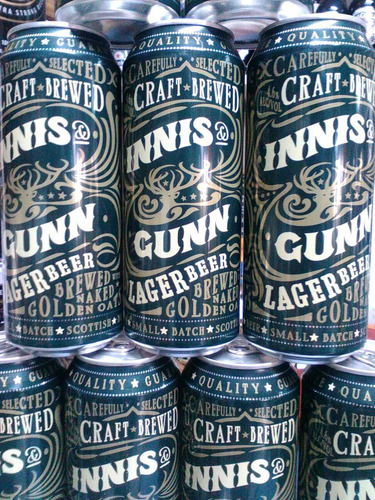 cerveza innis & gunn lager importada escocia caballito