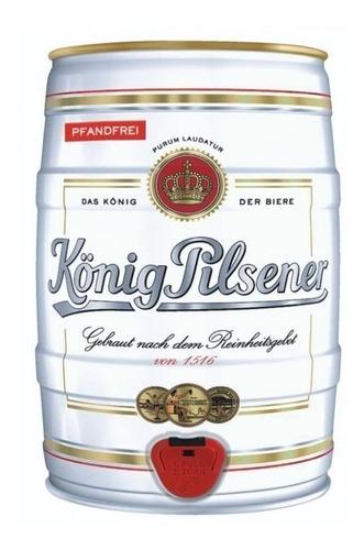 cerveza  konig pilsener barril 5 lts importada de alemania