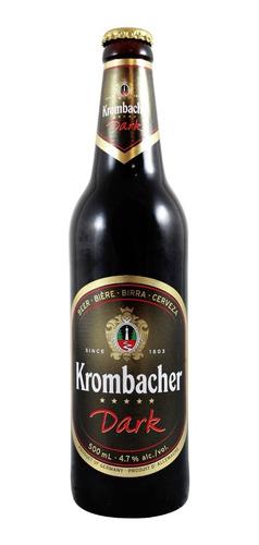 cerveza krombacher dark botella de 500 ml