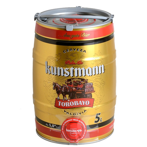cerveza kunstmann barril 5 lts frío lanús! oferta vto 1/3/18