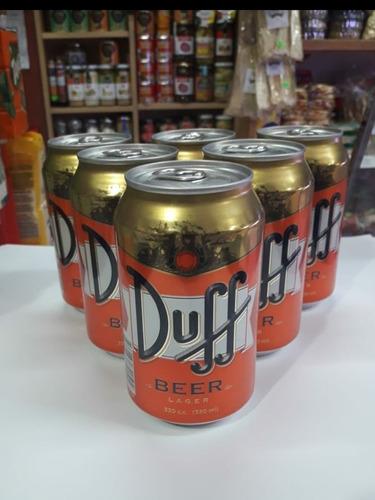 cerveza licencia duff importada 330ml comprando 12 o más un