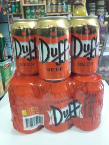 cerveza los simpson original duff 330 ml x6 unidades