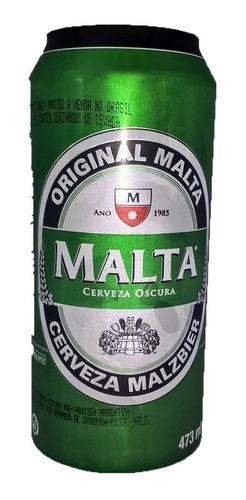 cerveza malta negra malzbier brasil / 12 latas x473cc.