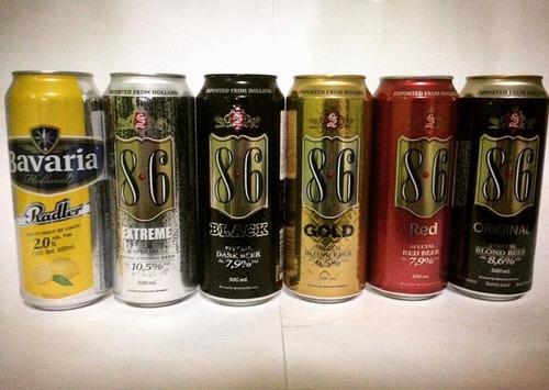 cerveza oranjeboom 14% ultra strong lata de 500 cc x 6