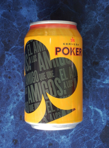 cerveza poker ases en lata de colombia