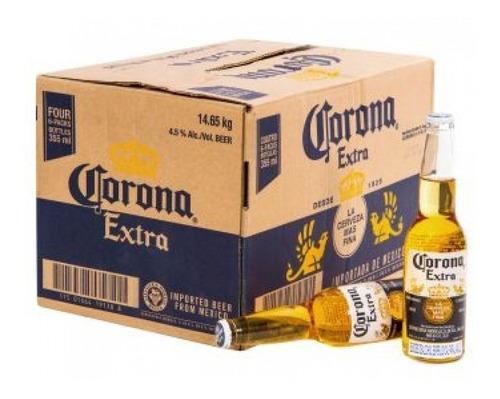 cerveza porron corona x330cc caja pack x24u + regalo
