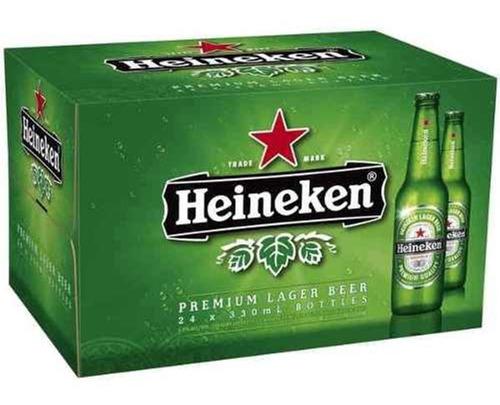 cerveza porron heineken x330cc pack x24 unidades