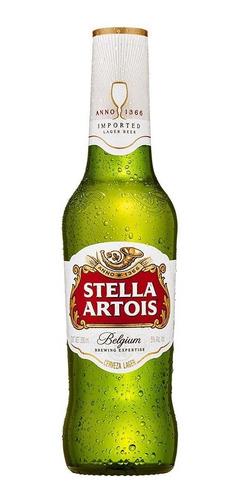 cerveza premium stella artois, 24 botellas 330ml