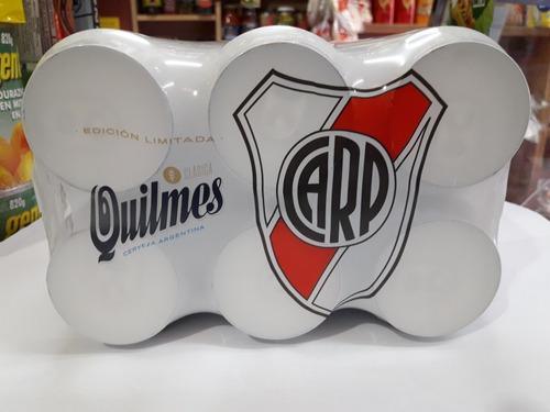 cerveza river,quilmes pack ed limitada colección x6 unid.