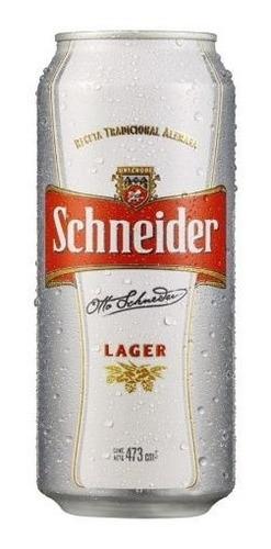 cerveza schneider lata 473 ml - pack 24 unidades