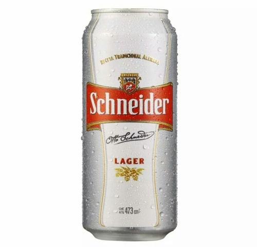 cerveza schneider lata 473ml. sáenz peña!