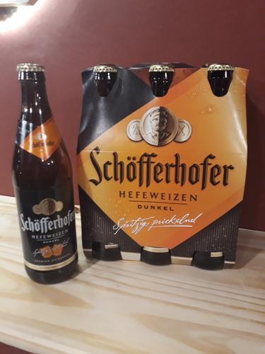 cerveza schofferhofer - negra de  trigo
