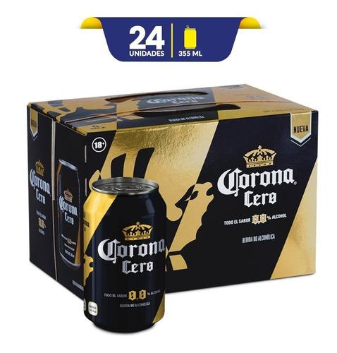 cerveza sin acohol corona cero, 24 latas de 355ml c/u