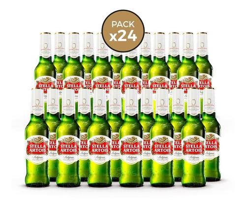 cerveza stella artois 330 ml pack 24 botellas san nicolas