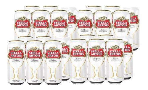 cerveza stella artois lata 473 ml x24
