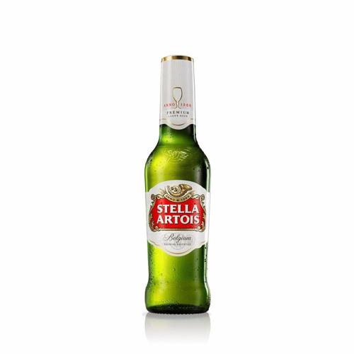 cerveza stella artois porrón 335ml - pack x24
