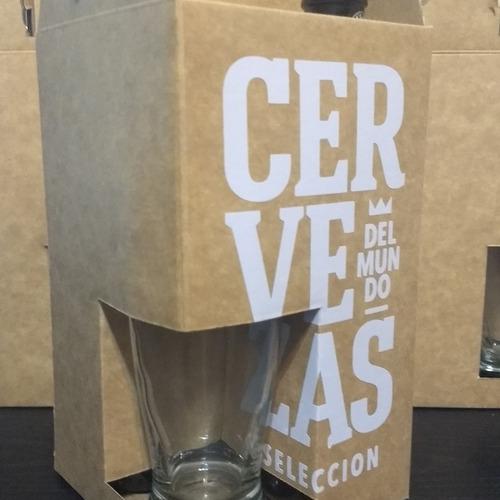 cervezas importadas + vaso - regalo empresarial - envíos