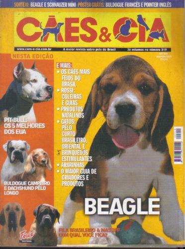 cães & cia nº 319 bulldogue campeiro beagle pit bull fila x