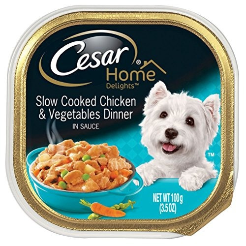 cesar home inspired wet dog food  24 bandejas