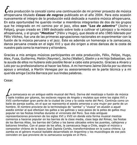 cesar peredo - zamacueca del mar (jazz afroperuano)