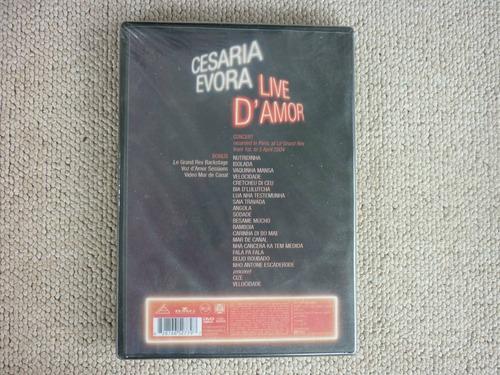 cesaria evora en concert - live d'amor / dvd