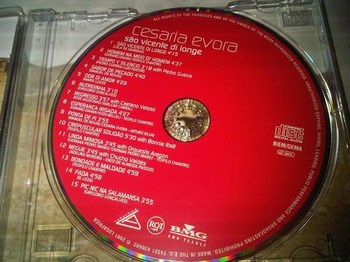 cesaria evora sao vicente di longe, cd original de coleccion
