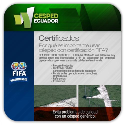 césped sintético deportivo certificado por la fifa