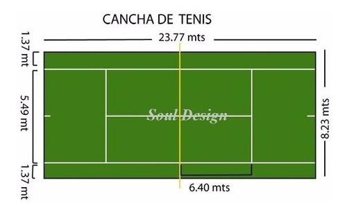 cesped sintetico deportivo tenis alto 15 mm varios colores