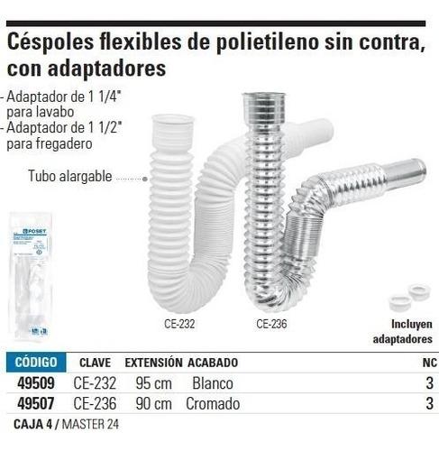 cespol flexible con adaptadores blanco foset 49509