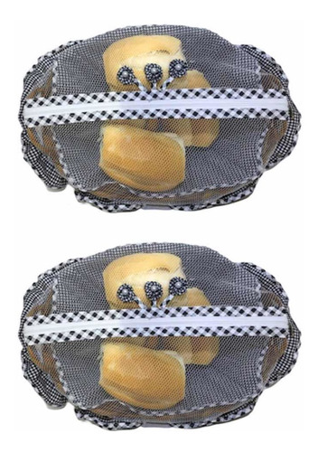 cesta artesanal de pão - kit 2 peças