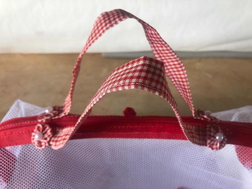 cesta artesanal de tecido c/ alça