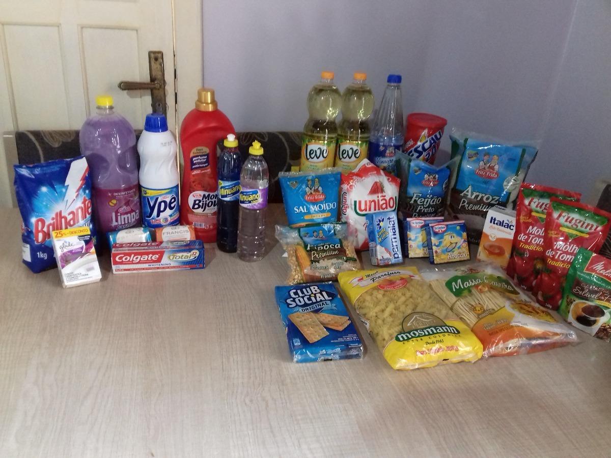 71b3eddb66 Cesta Básica Alimentação, Higiene E Limpeza. - R$ 113,00 em Mercado ...