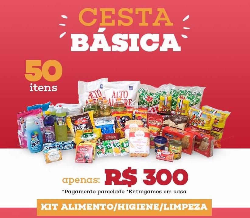 b0e2f14857 Cesta Básica Completa (alimento/higiene/limpeza) - R$ 300,00 em Mercado  Livre