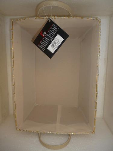 cesta cesto canasto rectangular decorativo c/asas house+home