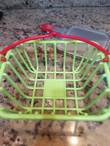 cesta con 11 accesorios de cocina niña juguete platos tazas