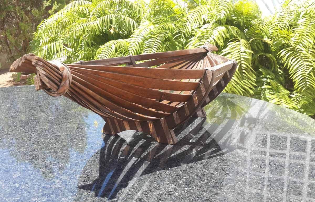 Cesta de bambu decorativa para centro de mesa bodas fiesta bs en mercado libre - Precios de centros de mesa para boda ...