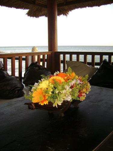 cesta de bambu decorativa para centro de mesa bodas fiesta
