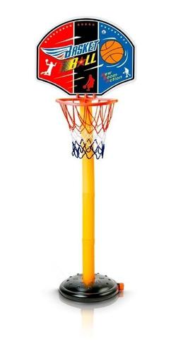 cesta de basquete infantil altura ajustável com bola + bomba