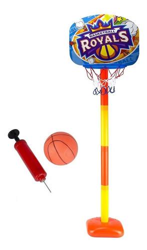 cesta de basquete infantil + bola macia bomba altura ajusta