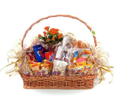 cesta de café da manhã com 30 itens!!!