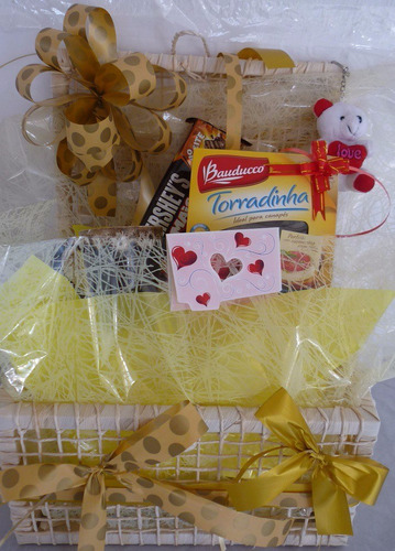 cesta de café da manhã dia dos pais presente 50 itens+brinde