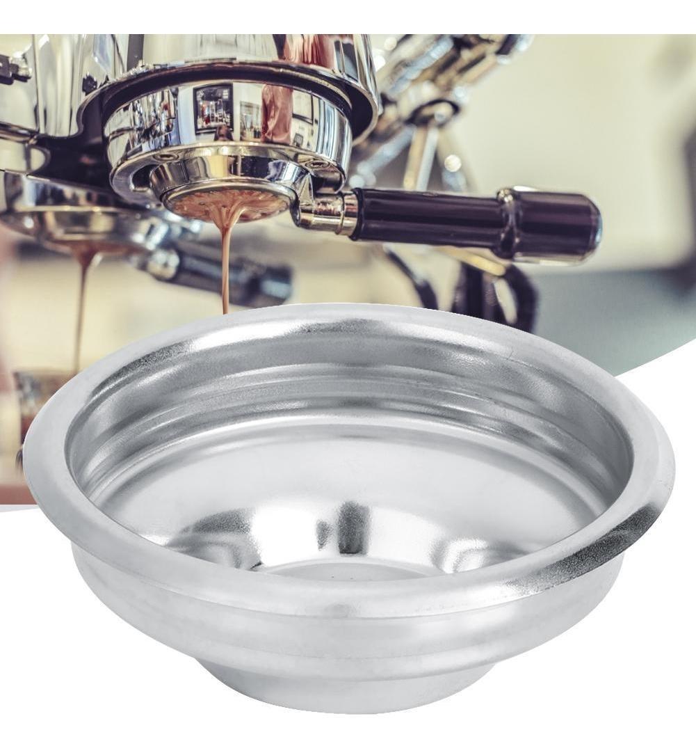 #1 Cesta de acero inoxidable de 58 mm Filtro de caf/é Filtro de cafetera estilo cesta Filtro de mango sin fondo