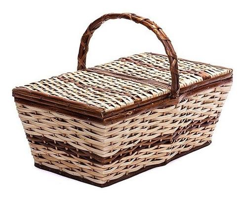 cesta de piquenique vime ref.950 pequena 30x19x11